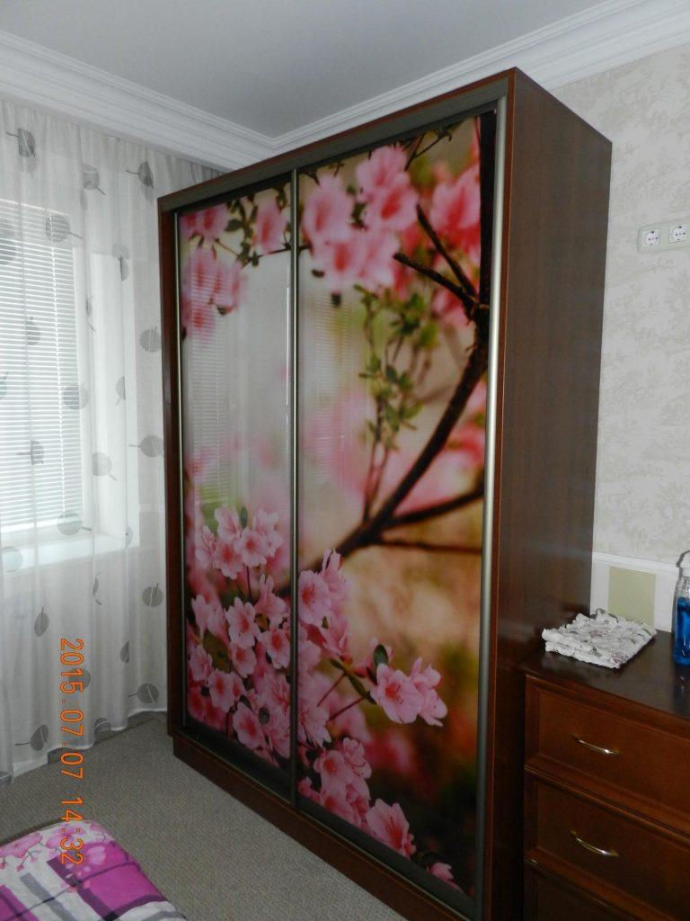 шкаф купе фотопечать цветы на заказ в киеве по выгодной цене