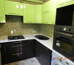Кухня венге и зелёный от Green мебель