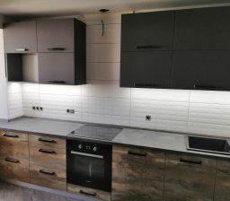 Кухня Дуб Иcландский и Графит от Green мебель