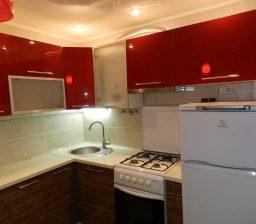 Кухня Акрил Красный и Зебрано от Green мебель