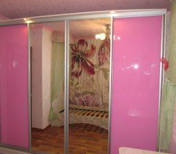 Шкаф-купе Розовый в детской от Green мебель