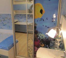 Шкаф-купе в детской с рыбками от Green мебель