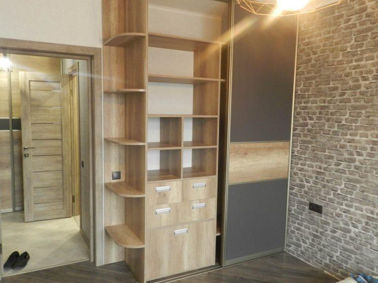 Встроенные шкафы купе Графит