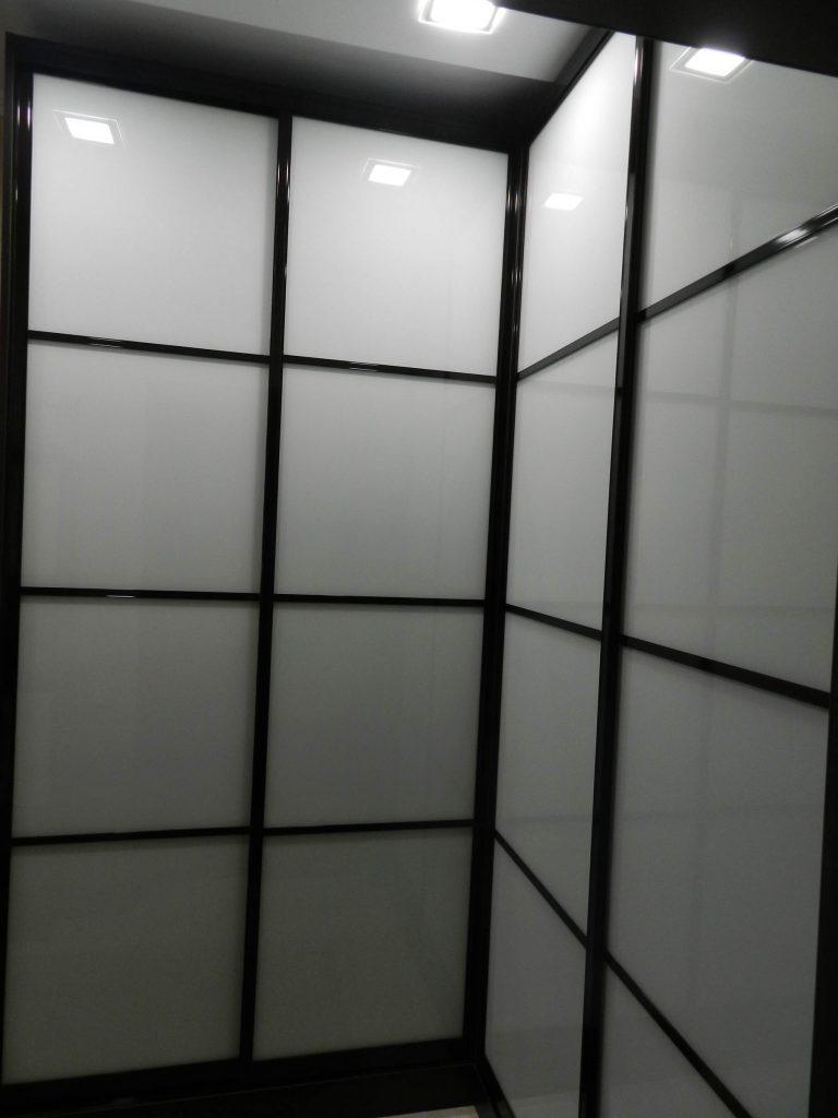 Купе Венге и Окрашенное стекло