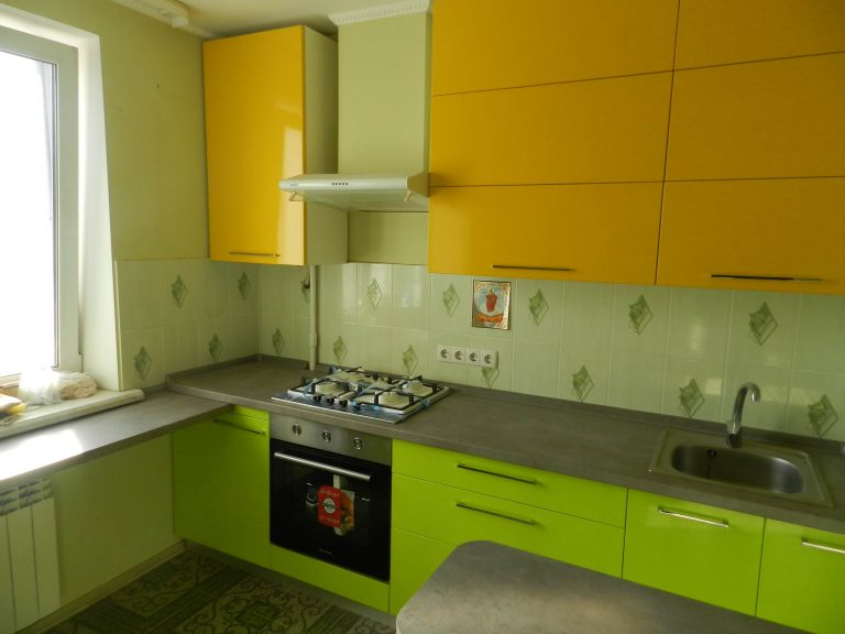 Кухня Лайм с Жёлтым