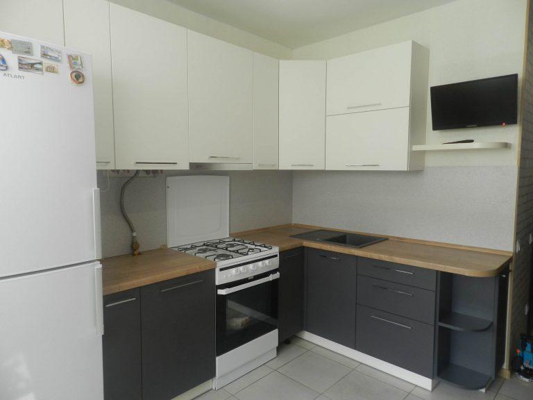 Мебель для кухни Графит и Джелато