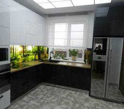 Кухня Білий та Графітовий Акрил