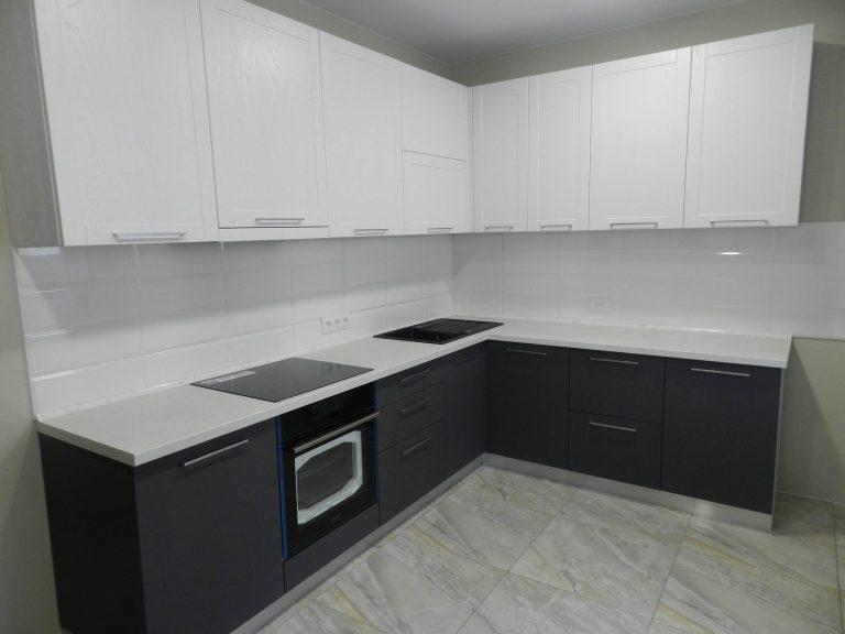 Графит с Белым Мебель для кухни